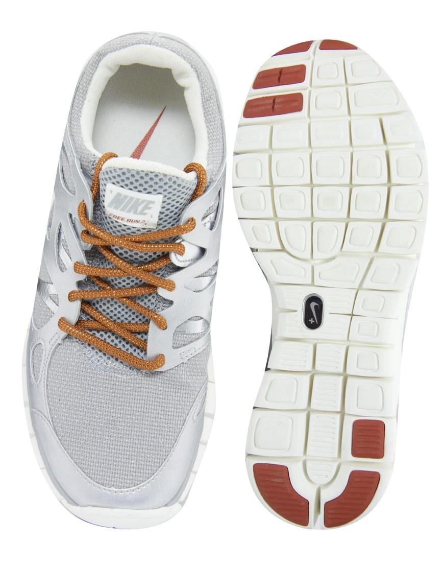 18da8b35ee31 ... where to buy lyst nike free run 2 prm ext silver trainers in gray 5e1f4  442e1