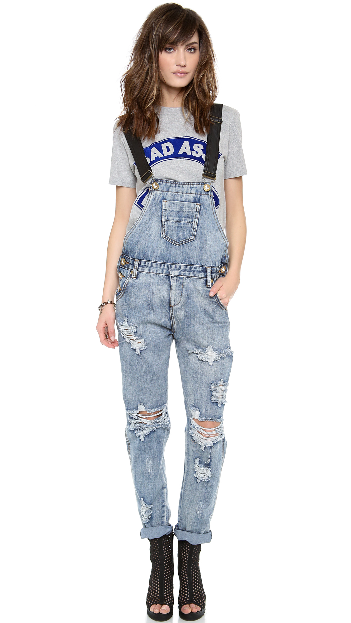 4f4720c2f0b8 Lyst - One Teaspoon Cobain Awesome Overalls in Blue