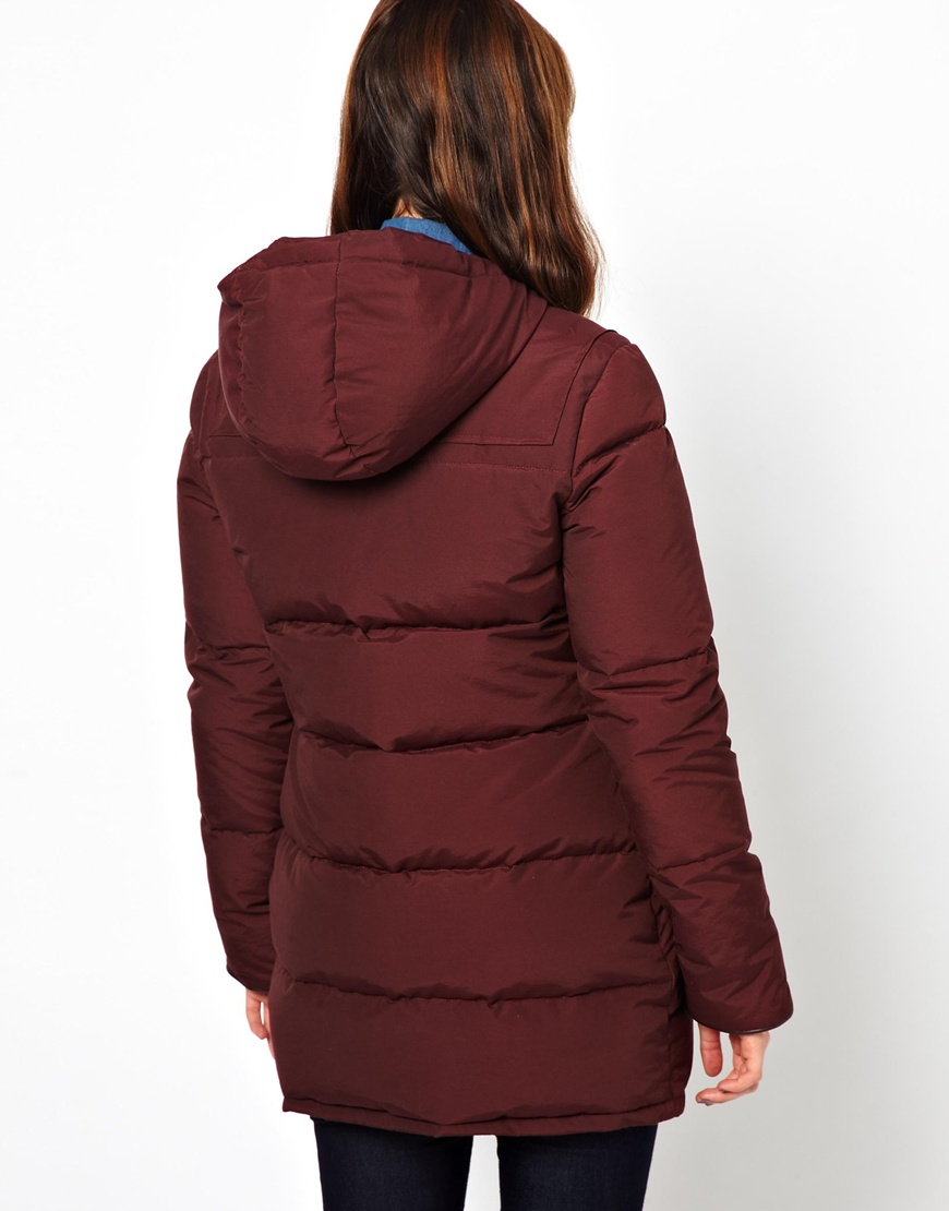 Penfield Keswick Padded Toggle Coat in Red | Lyst