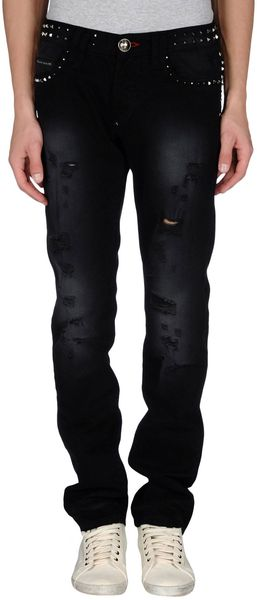 Philipp Plein Denim Pants - Lyst