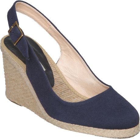 Pied A Terre Imperia Simple Slingback Espadrille Courts in Blue (navy) - Lyst
