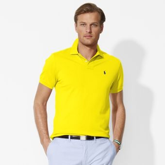 Polo Ralph Lauren Custom Stretch Mesh Polo - Lyst
