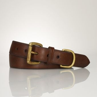 Ralph Lauren Distressed Rollerbuckle Belt - Lyst