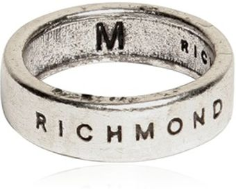 Richmond Logo Engraved Ring - Lyst