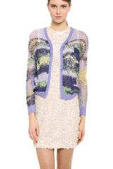 Rodarte Cropped Open Knit Cardigan - Lyst