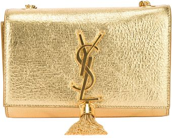 Saint Laurent Tassel Clutch - Lyst