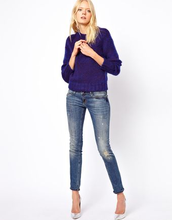 See By Chloé Fluffy Melange Sweater - Lyst