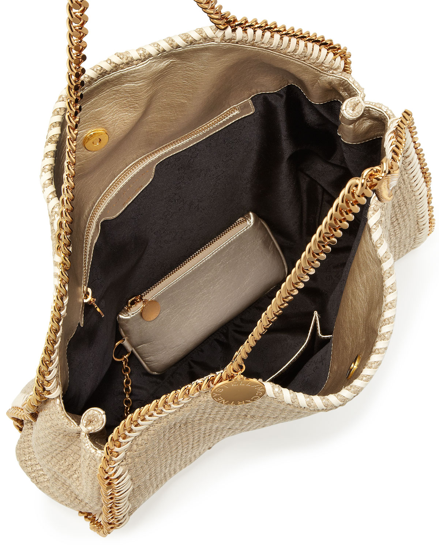642266e71b Woven In Lyst Bag Large Stella Mccartney Tote Falabella Metallic fgwFXHxn6