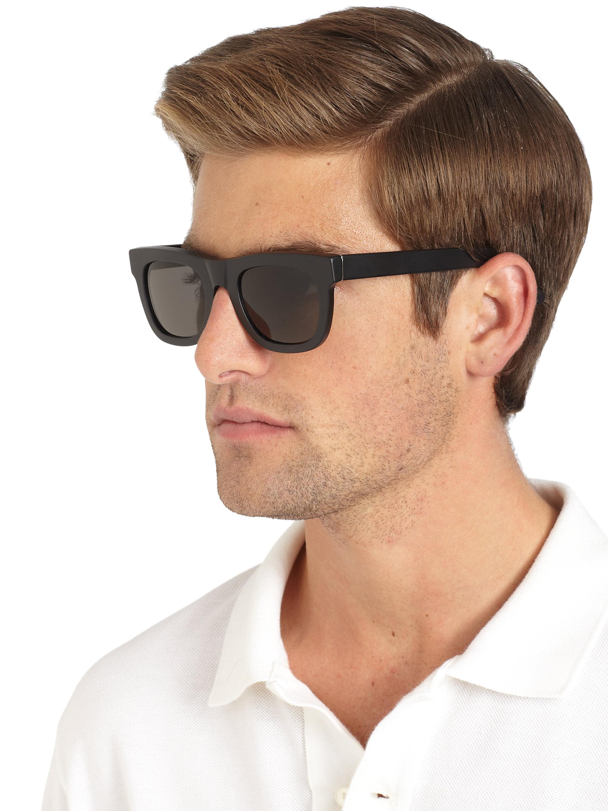 Lyst Retrosuperfuture Matte Wayfarer Sunglasses In Black