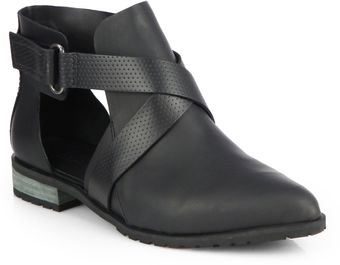 Tibi Gail Leather Ankle Boots - Lyst