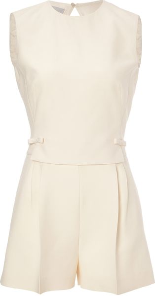 Valentino Woolsilk Playsuit - Lyst