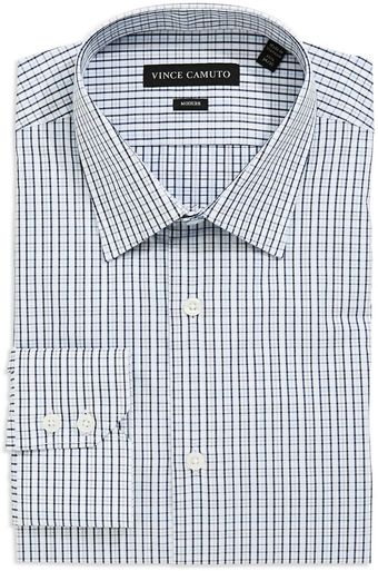 Vince Camuto Checkered Dress Shirt - Lyst