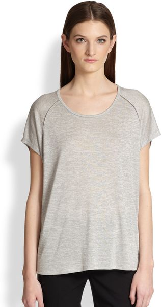 Vince Ladder Stitch Tshirt - Lyst