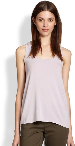 Vince Draped Hem Tank Top - Lyst