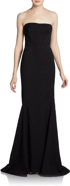 Zac Posen Strapless Sheath Gown - Lyst