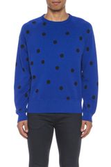 Acne College Dot Sweatshirt - Lyst