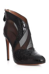 Alaïa Python and Mesh Shoe Boot