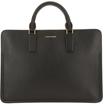 Alexander McQueen Designer Embossed Brief Case - Lyst