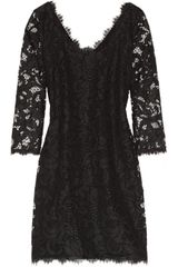 Diane Von Furstenberg Zarita Lace Mini Dress - Lyst