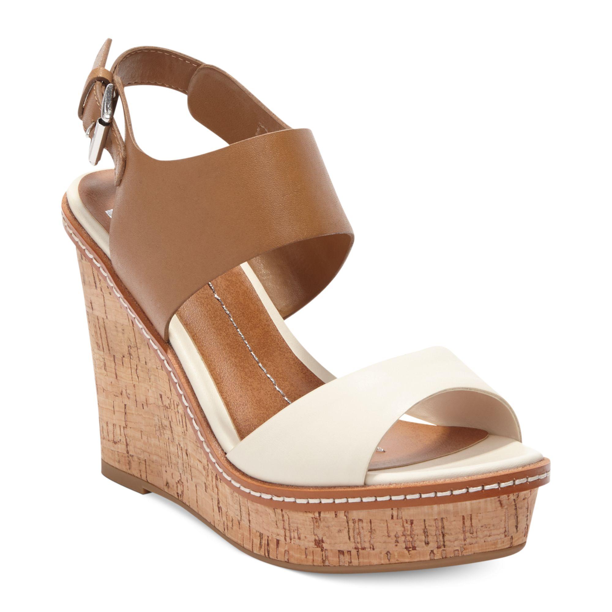 dolce vita dv by jonee platform wedge sandals in brown