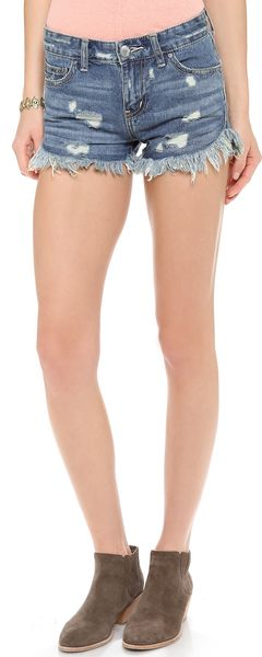 Free People Dophin Hem Shorts - Lyst