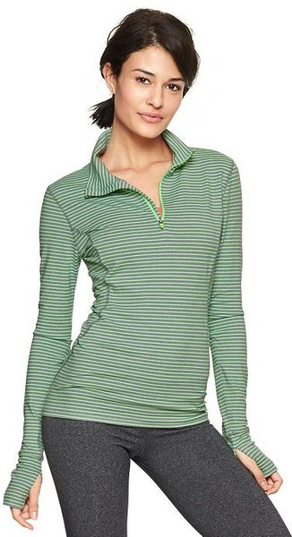 Gap Fit Striped Half-zip Running Pullover - Lyst