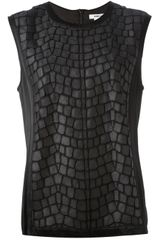 Helmut Lang Sleeveless Patchwork Sheer Tank - Lyst