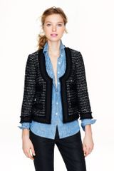 J.Crew Collection Black Tweed Jacket - Lyst