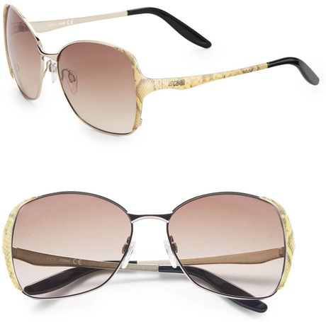 Big Gold Frame Sunglasses : Just Cavalli Metal Square Frame Sunglasses in Gold (gold ...
