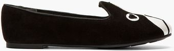 Marc By Marc Jacobs Black Suede Shorty The Boston Terrier Critters Loafers - Lyst