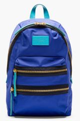 Marc By Marc Jacobs Blue and Teal Domo Arigato Packrat Backpack