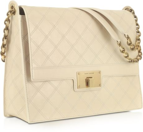 White Quilted Shoulder Bag 32