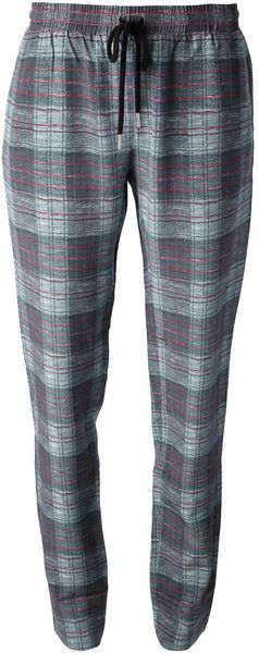 Markus Lupfer Checked Sweatpants - Lyst