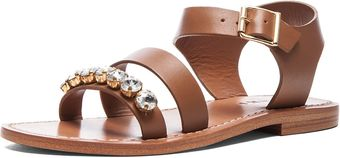 Marni Embellished Sandal with Small Stones - Lyst