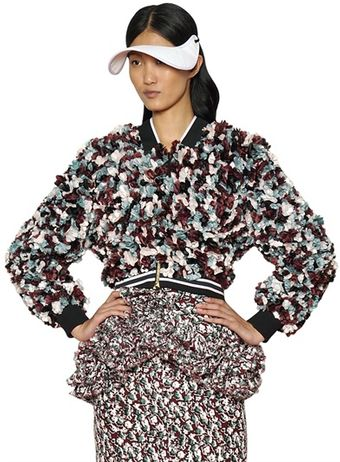Marni Silk Flowers On Silk Organza Jacket - Lyst