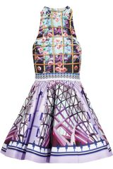 Mary Katrantzou Trinkolo Printed Satin Twill Dress - Lyst