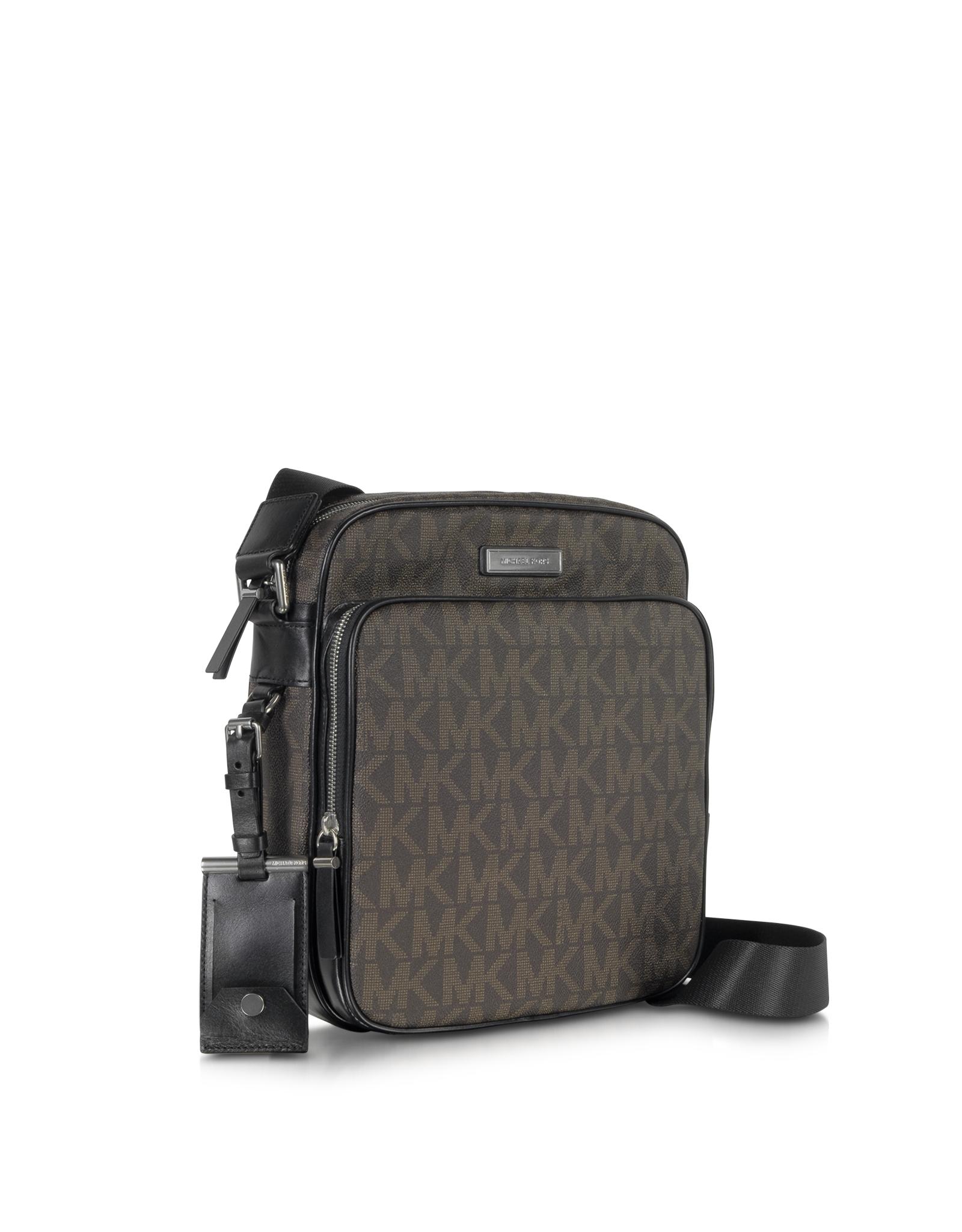 c07e0ae9ea0f Michael Kors Brown Woven Signature Messenger Mens Bag in Brown for ...