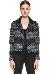 Missoni Biker Jacket - Lyst