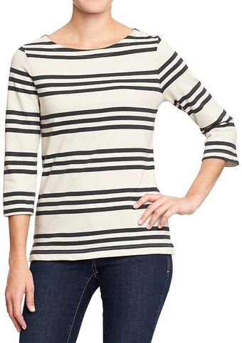 Old Navy Boat-neck Jersey Top - Lyst
