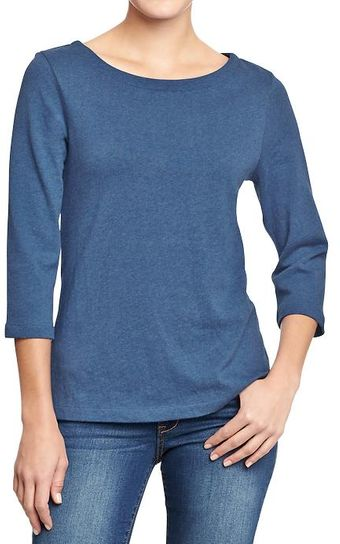 Old Navy Boat Neck Jersey Tops - Lyst