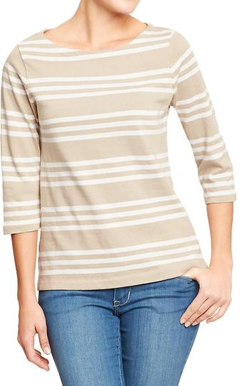 Old Navy Boat Neck Jersey Top - Lyst