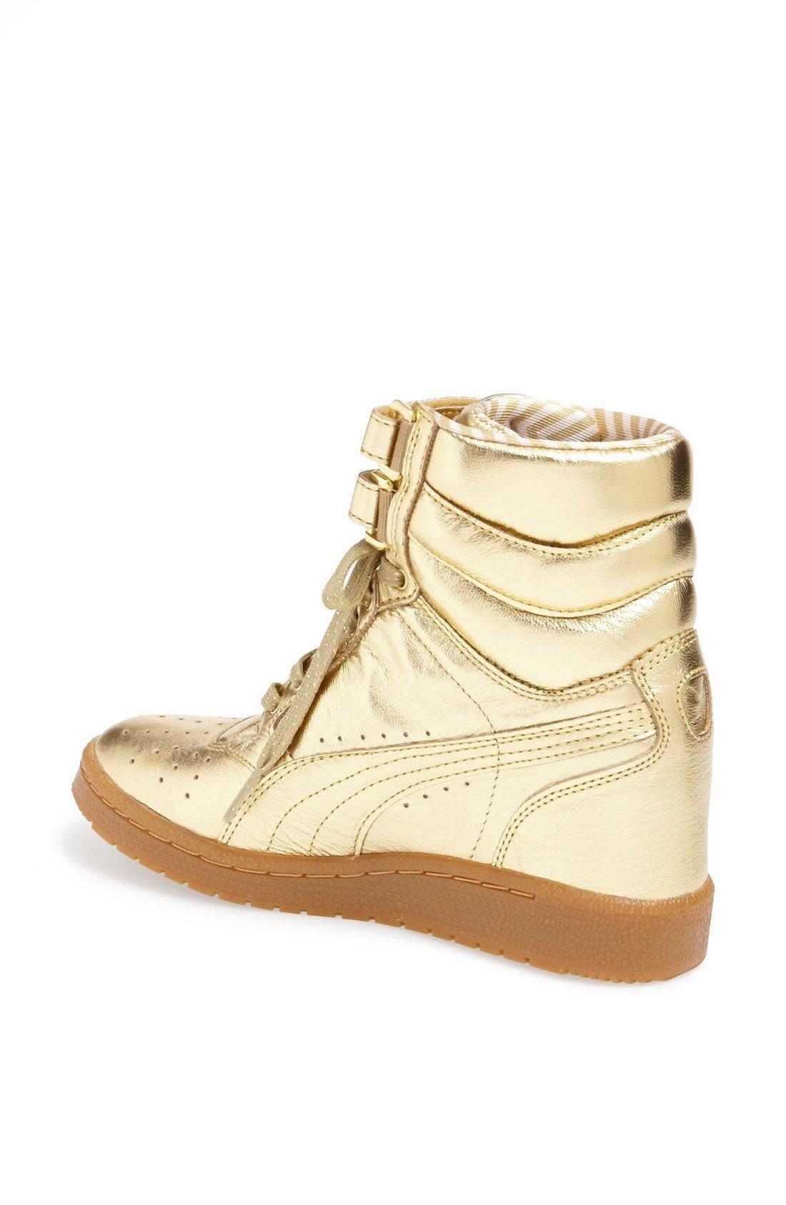 1105755dd8d7 ... puma rime gold sky wedge sneaker ...