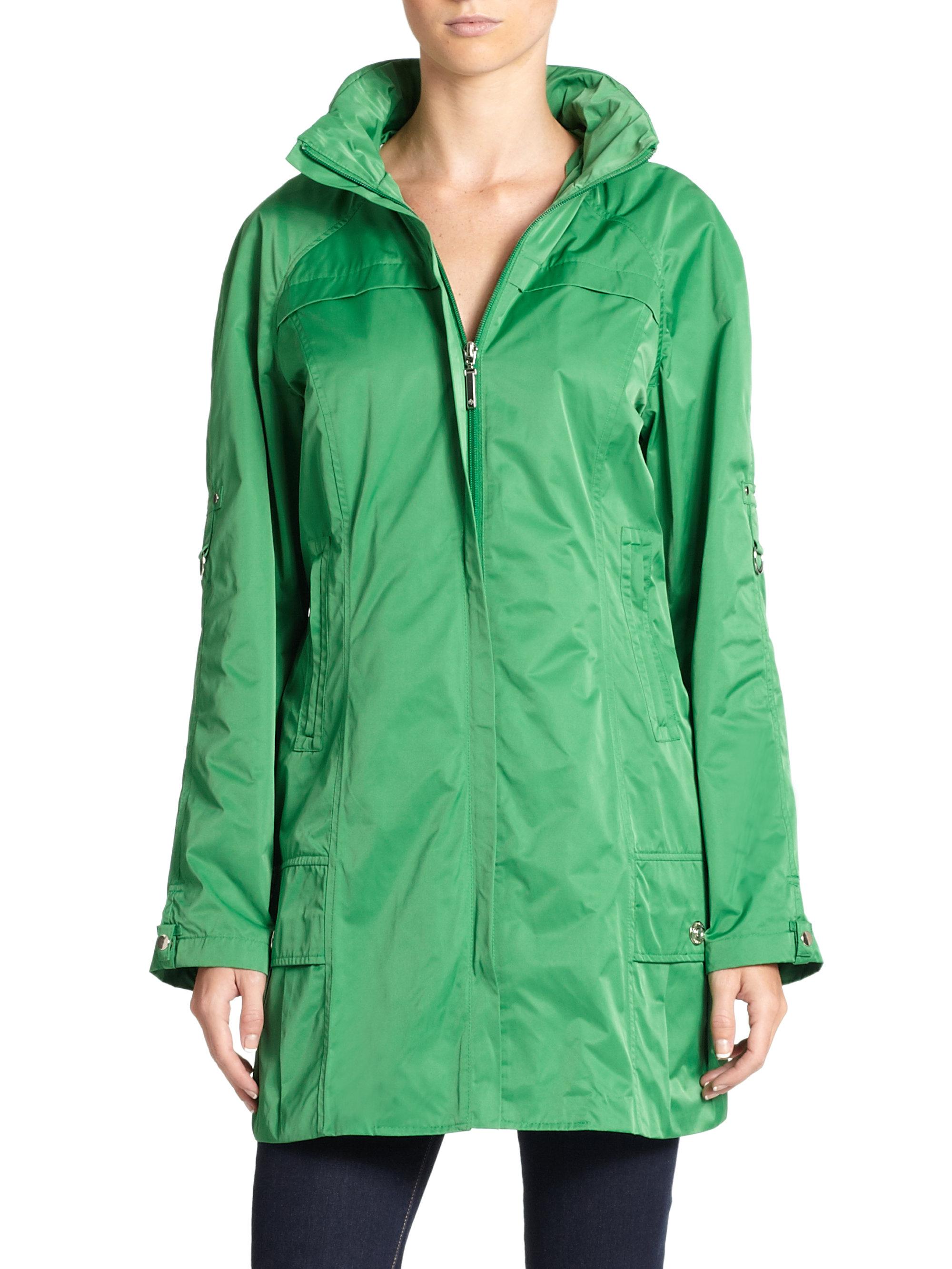 Lyst Rainforest Shape Memory Packable Travel Coat In Green
