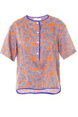 Thakoon Addition Floral Printed Blouse - Lyst
