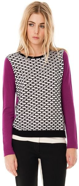 Tibi Sporty Mesh Sweater - Lyst
