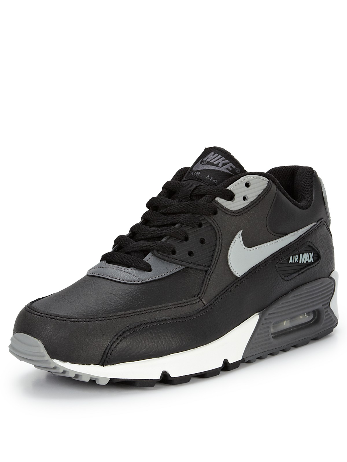 nike air max 90 essential mens trainers in black for men. Black Bedroom Furniture Sets. Home Design Ideas