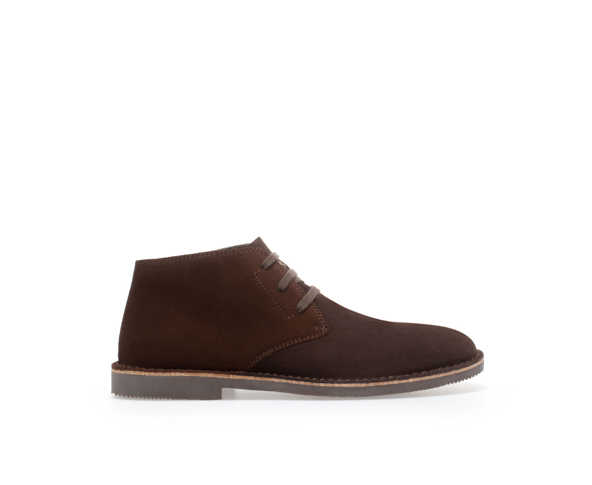 zara desert boot in brown for lyst