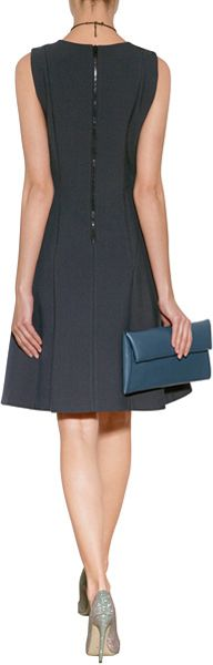 Dkny Fit And Flare Sheath Dress In Blue Lyst
