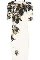 Giambattista Valli Printed Silk shantung Dress