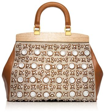 Tory Burch Mirrored Attersee Satchel - Lyst